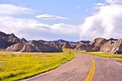 Badlands Road Royalty Free Stock Photography