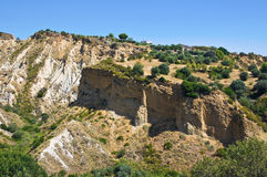 Badlands. Rocca Imperiale. Calabria. Italy. Stock Images