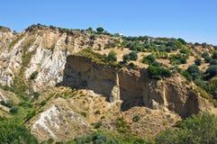 badlands Rocca Imperiale La Calabria L'Italia Immagini Stock