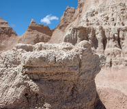 The Badlands. A rock formation at the Badlands of South Dakota stock photos