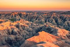 Badlands rock formation, South Dakota stock images