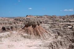 Badlands. Rock formations at the Badlands National Park stock photo
