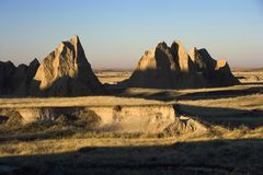 badlands södra dakota Arkivbilder