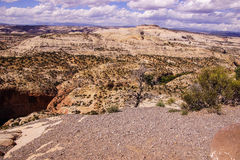 Badlands and sandstone canyons Stock Images