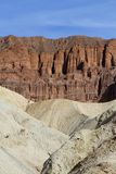 USA, CA: Death Valley - Badlands and Sandstone Cliffs Royalty Free Stock Photography