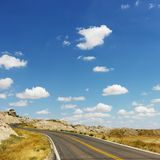 Badlands scenic drive. Royalty Free Stock Photography