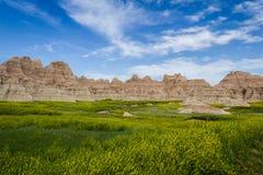 badlands södra dakota Fotografering för Bildbyråer