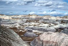 USA, Arizona: Petrified Forest - Badlands  Royalty Free Stock Photography