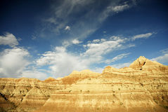 Badlands south dakota stock image