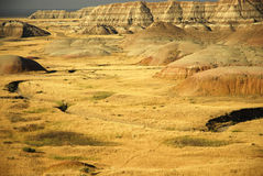 Badlands south dakota. Scenic images of the badlands national park in south dakota Royalty Free Stock Images
