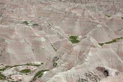 The Badlands. In South Dakota stock images