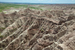 Badlands. The Badlands of South Dakota stock photography