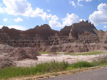 Badlands - South Dakota. Badlands, arid and desert lands. National park of South Dakota, USA royalty free stock image