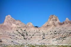 The badlands of south dakota Stock Image