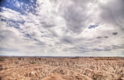 Badlands of south dakota, hdr Royalty Free Stock Photo