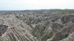 The Badlands of South Dakota stock video