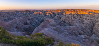 Badlands South Dakota at Sunrise Stock Image