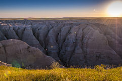 Badlands South Dakota at Sunrise Stock Images