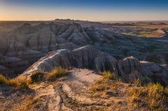 Badlands South Dakota at Sunrise Royalty Free Stock Photography
