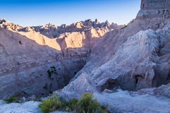 Badlands South Dakota at Sunrise Royalty Free Stock Photos