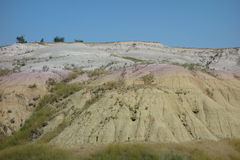 The badlands on the south side Royalty Free Stock Photo