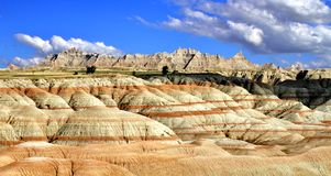 Badlands Stripes. The unique geography of the Badlands in South Dakota, USA royalty free stock images