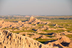 Badlands at Sunset Royalty Free Stock Photos