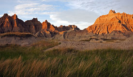 Badlands at sunset Royalty Free Stock Photo