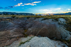 Badlands after Sunset Royalty Free Stock Photo
