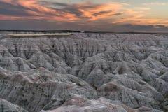 Badlands Sunset Royalty Free Stock Photography