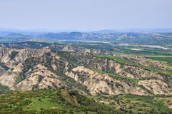 Badlands. Tursi. Basilicata. Italy. Royalty Free Stock Image