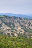 Badlands. Tursi. Basilicata. Italy. Royalty Free Stock Photos