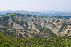 Badlands. Tursi. Basilicata. Italy. Royalty Free Stock Photography