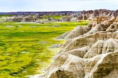 Badlands van Noord-Dakota royalty-vrije stock afbeelding