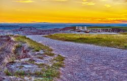Badlands View Point Royalty Free Stock Photography