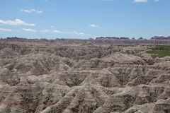The Badlands. A view of the Badlands in South Dakota stock images