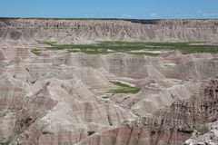 The Badlands. A view of the Badlands in South Dakota stock photo