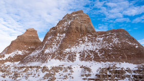 The Badlands in Winter Stock Photos