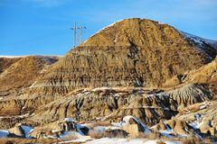 Badlands winter landscape stock photography