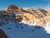 The Badlands in Winter Stock Photo