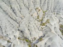 Badlands in the Yesa reservoir, Tiermas royalty free stock photography