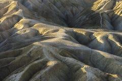 Badlands in Zabriskie-Punt, het Nationale Park van de Doodsvallei Royalty-vrije Stock Foto