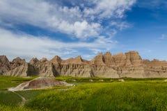 Badlands, Zuid-Dakota Stock Foto