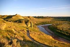 Badlandsna av North Dakota Arkivbilder