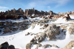 Badlandsnationalpark i South Dakota royaltyfria bilder