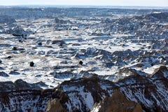 Badlandsnationalpark i South Dakota, USA. arkivbilder