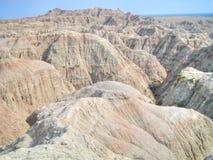 Badlandsnationalparken i South Dakota, USA arkivbilder