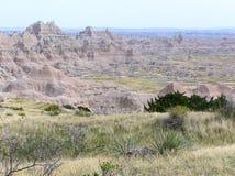 Badlandsnationalparken i South Dakota, USA royaltyfria foton