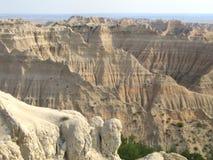 Badlandsnationalparken i South Dakota, USA fotografering för bildbyråer