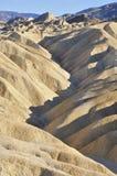 Badlandvormingen, Zabriskie-Punt, Doodsvallei Royalty-vrije Stock Afbeelding